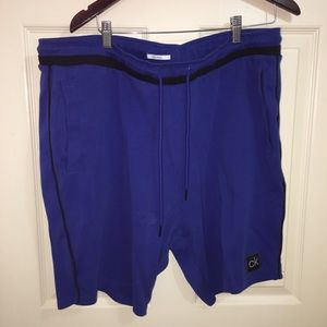 Calvin Klein size XXL blue lounge shorts